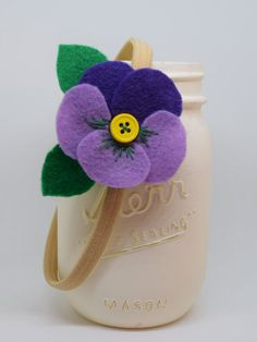 Felt Pansy Accessory Spring Special: 2 for 10.00