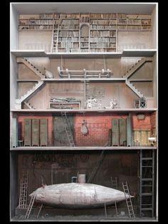 """""""Pour Les Nuages, Passer Par L'Escalier"""" by French artist Marc Giai-Miniet"""