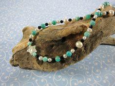 Amazonit Kette mit Perlen - Edelsteine Wimmer Bracelets, Jewelry, Fashion, Rhinestones, Beads, Handmade, Moda, Jewlery, Jewerly