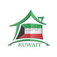 Icono de la casa hecha de la bandera de Kuwait... Atari Logo, Clipart, Asia, Logos, Illustrations, Logo