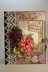 Designs by Shellie: PART 1 TUTORIAL - LEARN TO MAKE A MINI ALBUM HEARTFELT CREATIONS RAINDROPS ON ROSES