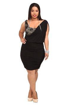 7dbc5680ed87 Torrid women's Venezia Lace Shoulder Drape Ruche Dress Plus 3 3XL Wrap  Black 87 #Torrid