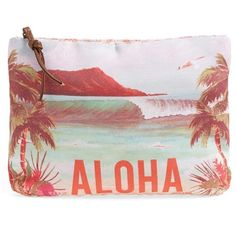 Junior Rip Curl 'Aloha Spirit' Clutch (€27) ❤ liked on Polyvore featuring beauty products, beauty accessories, bags & cases, bags, accessories, beauty, make, whitetecap grey and rip curl