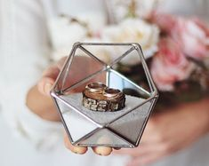 really sweet ring bearer box. we can stuff it to personalize it to our theme.