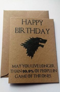 Game Of Thrones Humorous Birthday Card Make A GOT Fan Chuckle On Their