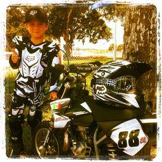 Motocross, Custom black 50cc KTM Kids DirtBike, CortesRacing Diego Cortes in Miami