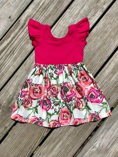 Cute Girl Outfits, Toddler Girl Dresses, Little Girl Dresses, Toddler Outfits, Kids Outfits, Cotton Frocks For Kids, Fall Floral Dress, Kids Dress Patterns, Baby Frocks Designs