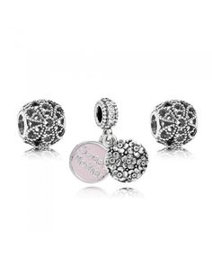 PANDORA Sweet Mother Charm Set Give yourself the most beloved mother, express love. Mother Jewelry, Mom Jewelry, Jewelry Gifts, Jewellery, Pandora Rings, Pandora Jewelry, Pandora Charms, Pink Petals, Murano Glass Beads