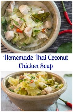 ... Thai Coconut Chicken Soup, is a spicy, fast and easy authentic Thai