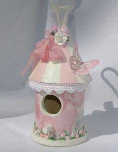Image detail for -Shabby Pink Mini Birdhouse
