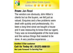 The vendors are obviously John Hilton's clients but as the buyers, we felt just as valued....