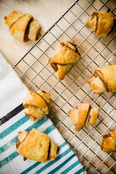 Chocolate Cheesecake Rugelach from Cupcake Project - Homemade rugelach filled with chocolate cheesecake.