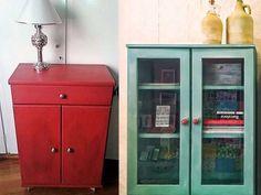 Βάφουμε τα έπιπλα μελαμίνης με Miss Mustard Seed's Milk Paint! - The Paintbox Furniture Makeover, Home Furniture, Miss Mustard Seeds, Milk Paint, Painted Furniture, Locker Storage, Cabinet, Living Room, House