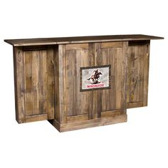 Exceptional Nice Rustic Looking Portable Bar, Could Just Cover The Winchester Part With  Our Own Logo