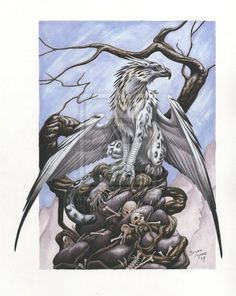 Why I love gryphons: they're both beautiful and deadly!