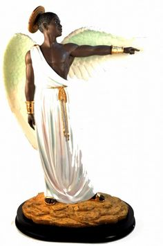 "This figurine is entitled ""Guidance"" and is a member of our Heavenly Visions Figurine Collection.  The figurines in this collection were designed by Stephen Davis."