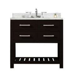 Water Creation 30 in. Vanity in Espresso with Marble Vanity Top in Carrara White-Madalyn 30E - The Home Depot