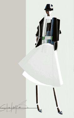Fashion illustration - contemporary fashion sketch // Stefania Belmonte