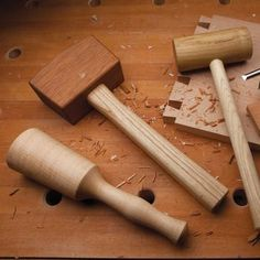 Shop-Made Mallets Woodworking Plan by Woodcraft Magazine #woodworkingtools