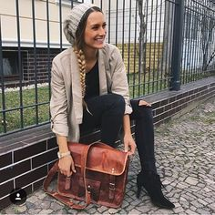 One of the most coolest leather satchel bags for women.