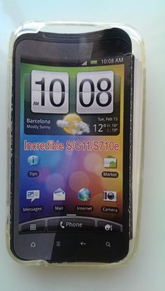 HTC Incredible S clear TPU skin case