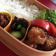 "Today's Bento 【Sweet & Sour Meatballs】 I am using ""Black Vinegar"""