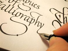 Learn Calligraphy- we learned this in Art. So sad they don't have art class in my daughters high school!