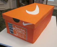 Jordan shoe box cake with instructions | Party ideas | Pinterest ...