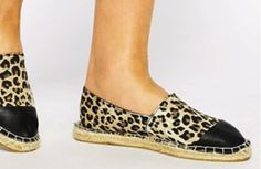 #leapord print espradille flats for the ultimate rocker chic look #shoes