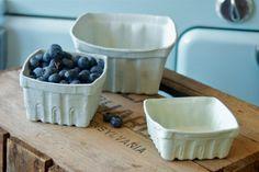 Porcelain Berry Basket Set of 3 LgMdSm by HeirloomHomeStudio, $45.00