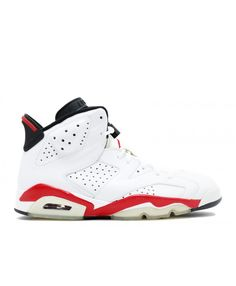 3a7479904cfcfe Air Jordan 6 Retro Bulls White Varsity Red Black 384664 102