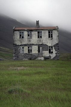 Abandoned farmhouse in Iceland. Iceland seems like a magical place and I love abandoned buildings. Abandoned Buildings, Abandoned Mansions, Old Buildings, Abandoned Places, Abandoned Castles, Spooky Places, Haunted Places, Photo Post Mortem, Coastal Cottage