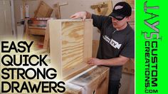Here is a quick video showing how I make my drawers 99 times out of 100. This is an easy process using pocket hole screws and a floating bottom. I have never had a problem with this drawer construc…