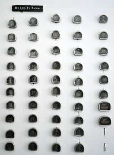 The best Complete set of Typewriter Keys, 48 Vintage Royal Tombstone Letters, Numbers, Craft, Jewelry, Steampunk, Black, White, Celluloid not Glass are selling out fast so don't miss this opportunity! https://www.etsy.com/listing/198043953/complete-set-of-typewriter-keys-48?utm_source=socialpilotco&utm_medium=api&utm_campaign=api  #charm #typewriter