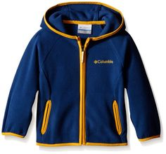 Columbia Toddler Boys Fast Trek Hoodie, Night Tide/Stinger, 2T