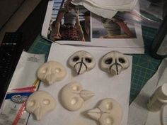 Astrid - WIP Costume - Skulls by msventress on DeviantArt Astrid Costume, Astrid Cosplay, Halloween Costumes To Make, Holidays Halloween, Halloween Party, Toothless Costume, Dragon Costume, Astrid Hiccup, Skull Mold