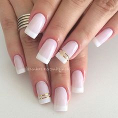 All girls like beautiful nails. The first thing we notice is nails. Therefore, we need to take good care of the reasons for nails. We always remember the person with the incredible nails. Instead, we don't care about the worst nails. French Tip Nail Designs, French Tip Nails, Nail Art Designs, Diy Ongles, Nagel Hacks, Bridal Nails, Hot Nails, Manicure And Pedicure, Nail Tips