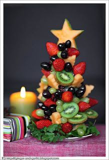 """Cute Food For Kids"" ?: 35 Edible Christmas Tree Craft Ideas   I think a lot of these would be GREAT for us 'OLDER' kids!"