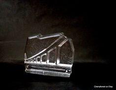 Pukeberg glass-works,  Uno Westerberg Paperweight depicting Ölands bridge. by Cherryforest on Etsy