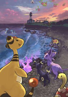 """The Current Lighthouse"" Lighthouse Pokemon (http://www.pixiv.net/member_illust.php?mode=medium_id=29298300)"