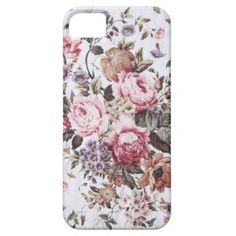 old roses vintage fabric iPhone 5 barely there iPhone 5 Covers