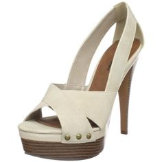 $68.82-$70.00 Michael Antonio Women's Kairu Open-Toe Pump,Beige,8 M US - Look effortlessly stylish in these casual but dressy pump from Michael Antonio.  Kairu is a beige 5 1/2 inch heel combined with wood like accents and studs on a 1 inch platform. Criss cross straps and side cut outs make this a must have for spring and summer. http://www.amazon.com/dp/B00471WHXQ/?tag=icypnt-20