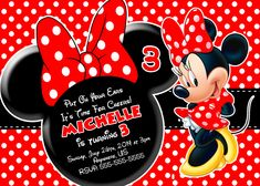 29 Best Minnie Mouse Birthday Invitations Images Minnie Mouse
