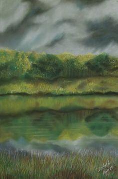 Szántó Ágnes Porpasztell  Vihar előtti csend Painting, Art, Painting Art, Paintings, Kunst, Paint, Draw, Art Education, Artworks