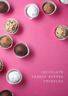 3 ingredient Chocolate Peanut Butter Truffles from Bakerella