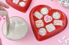 Use an empty chocolate box and homemade slime to make this fun activity for Valentine's Day!