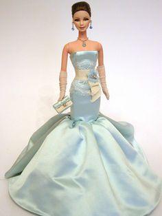 fashion doll, blue dress, Carlotta