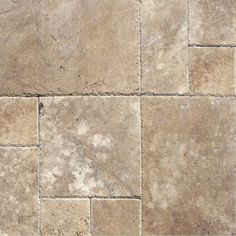 MS International Tuscany Walnut Random Sized Travertine Mosaic Tile in Unfilled and Chipped Brown
