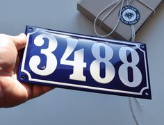 cute house number sign and I love the color