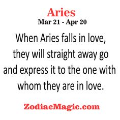 When Aries falls in love,they will straight away…